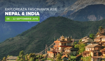 EXPLOREAZA FASCINANTA  ASIE – NEPAL & INDIA 06 – 22 SEPT. 2019
